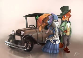 [Fan-art] Zootopia in vintage style by SlothyAmphawa