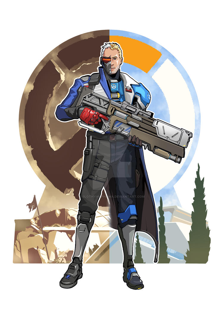 Fan-art] Soldier76 : Jack Morrison by SlothyAmphawa on