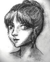 Vaguely manga-esque portrait by Silkenray