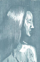 Color registered woodcut cyan by Silkenray