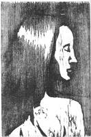 Black and white woodcut by Silkenray