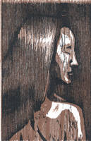 Color registered woodcut brown by Silkenray