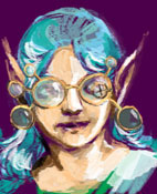 Annah, the gnome inventrix by Silkenray
