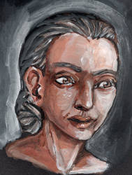 Middle aged woman by Silkenray