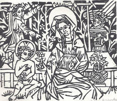 Madonna and Child with Angels by Silkenray