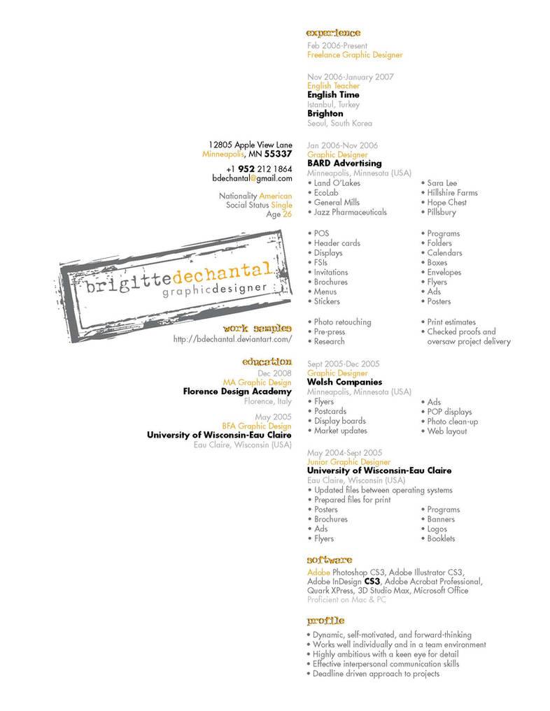 Resume by bdechantal