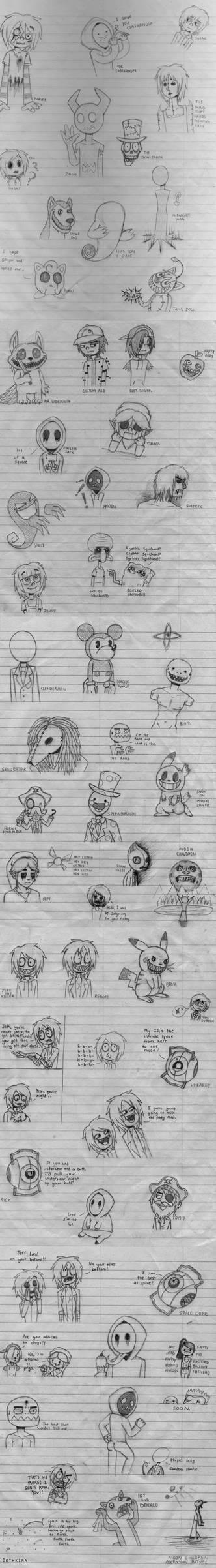 Creepypasta Sketch Dump
