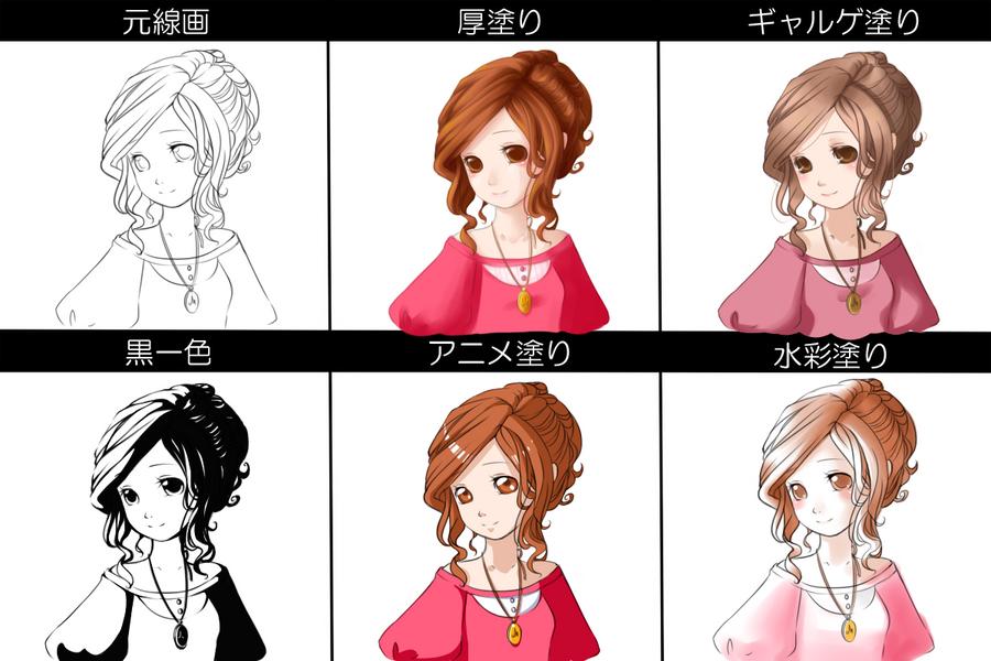 pixiv colouring meme by mochimaruvii