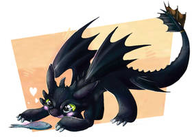 Little Toothless by Ink-Leviathan