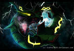 Rayquaza: Sky High by Ink-Leviathan