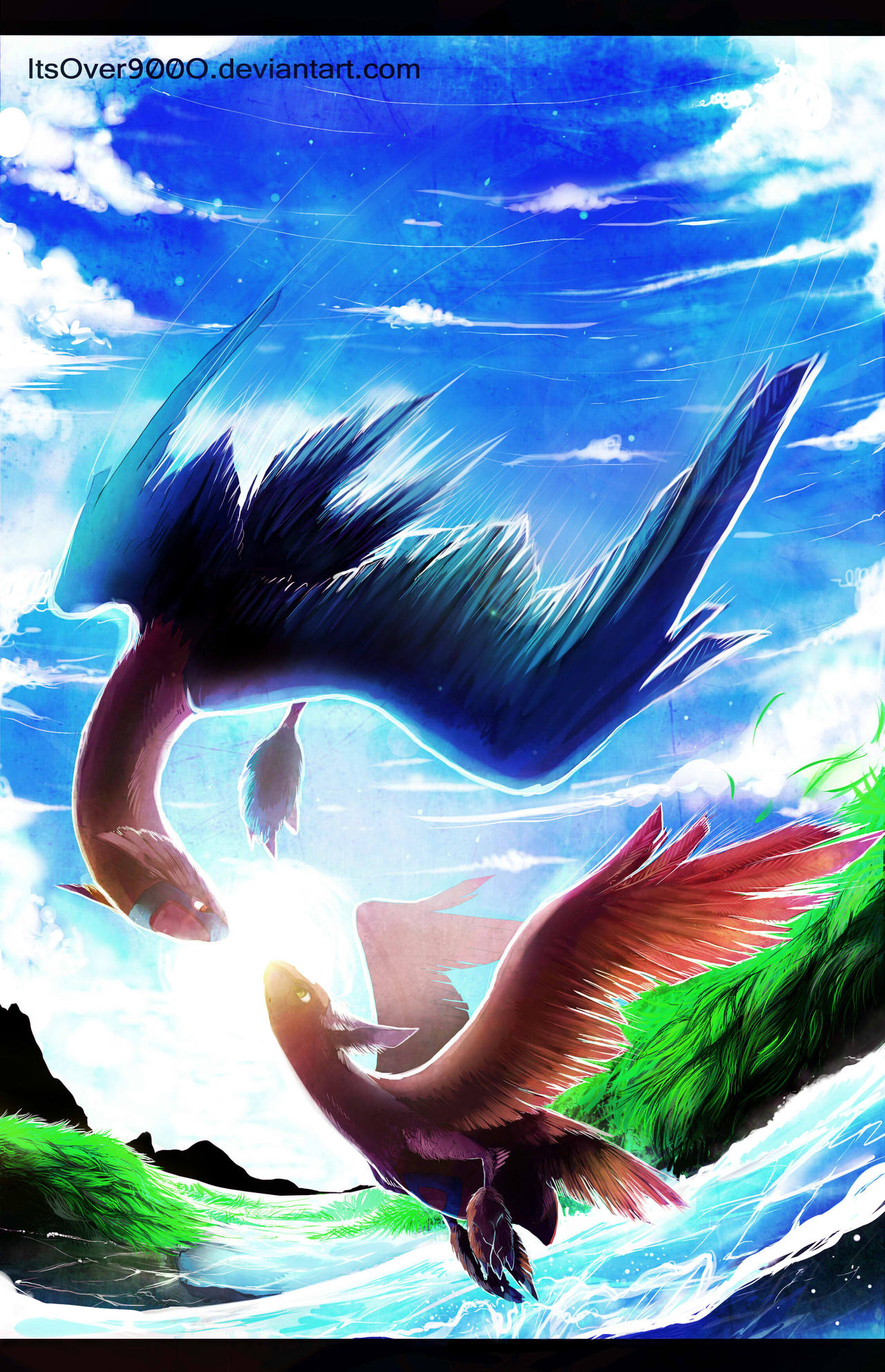 Latios and Latias by Ink-Leviathan