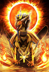 Challenging the Pharaoh + SPEEDPAINT by Inklev
