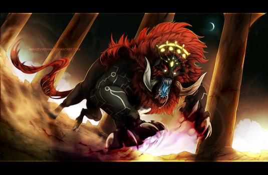 Legend of Zelda: Beast Ganon by Inklev
