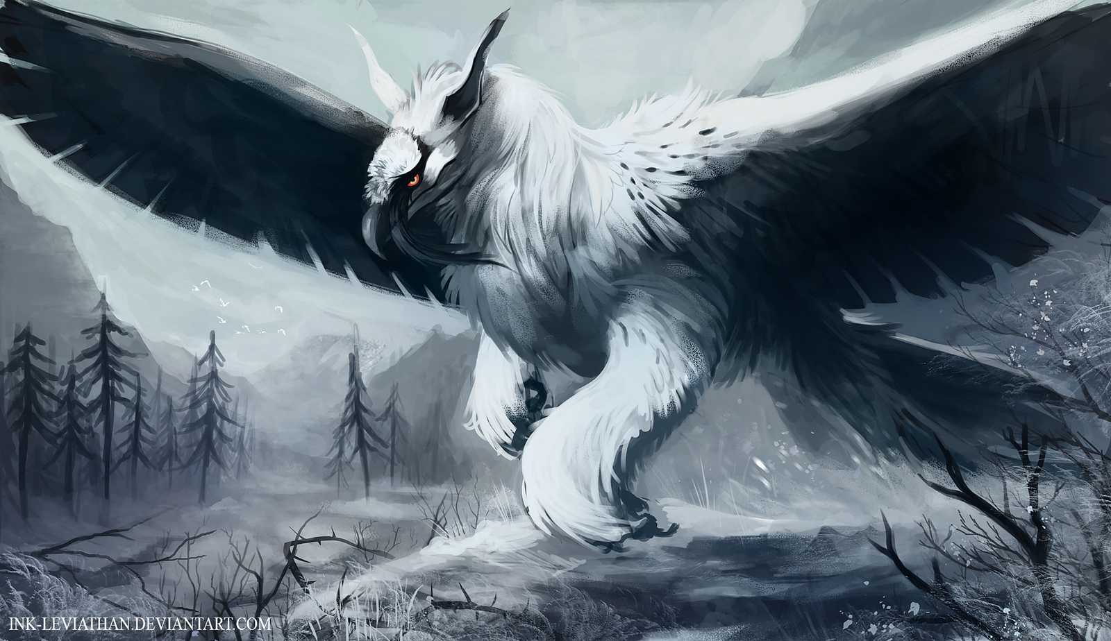 Bearded griffin by ink leviathan on deviantart for The griffin