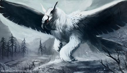 Bearded Griffin by Ink-Leviathan