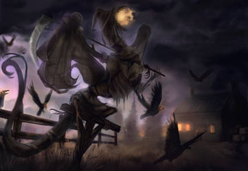 Scarecrow Dragon by Ink-Leviathan