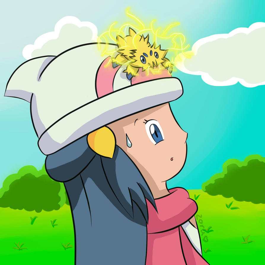 Pokemon Dawn: Dawn/Hikari And Joltik 2 By ZoruDawn On DeviantArt