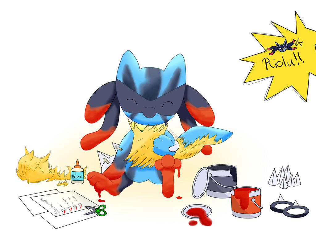 Pokemon - Riolu (Feel like a Mega Lucario) by ZoruDawn on ...