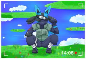 Pokemon - Lucario (Kakashi's Cosplay) by ZoruDawn