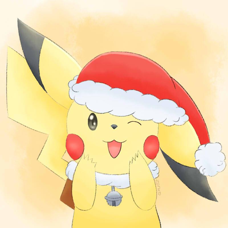 Pokemon pikachu feliz navidad merry christmas by for Dibujos christmas navidad