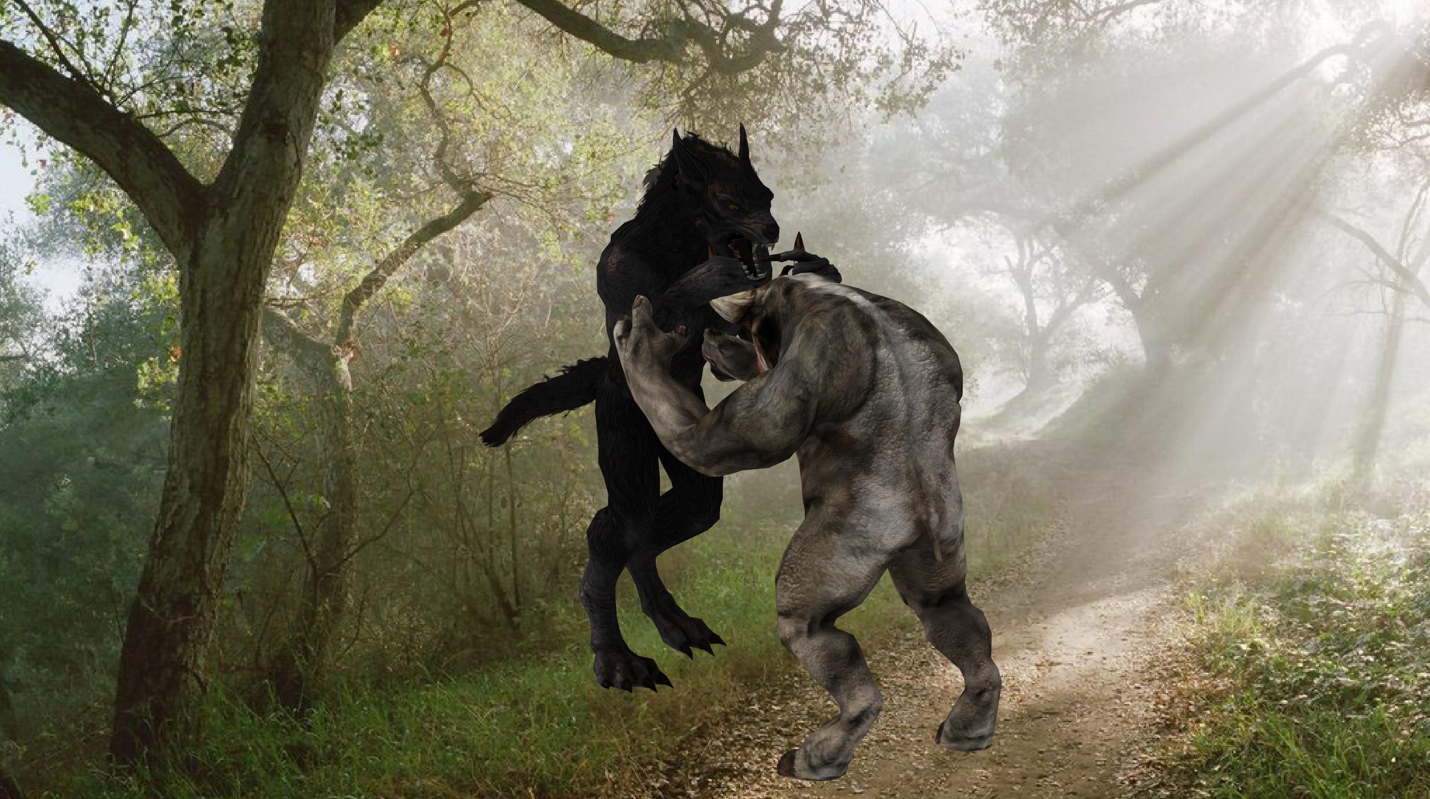 werewolf vs minotaur by DukeNukem69 on DeviantArt