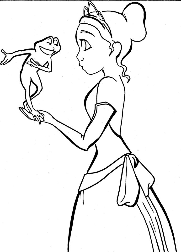 Frog Princess For 4rainynite By Cosmic Outcast On Deviantart Princess And The Frog Drawing