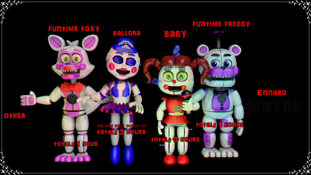 Sister Location Animatronics Adventures Version By