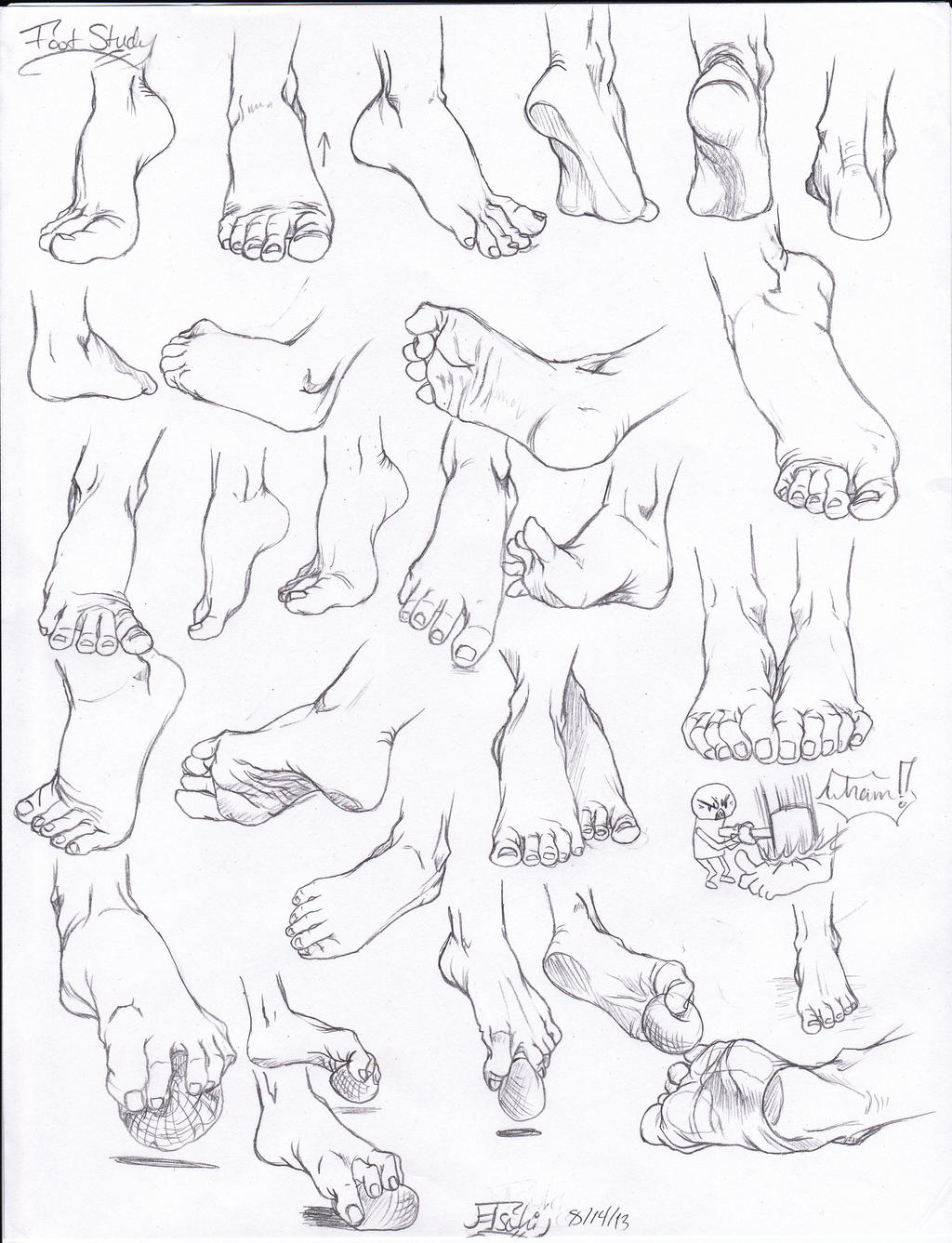 Foot study by Tsuki-Nii on DeviantArt