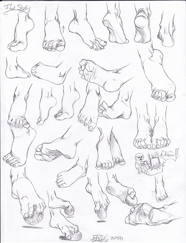 foot study by tsuki