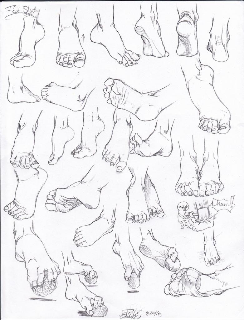 Foot study by Tsuki-Nii