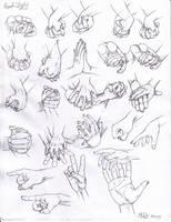Hand study by Tsuki-Nii