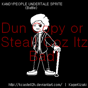 Undertale Fancharacter - KANDYPEOPLE Battle Sprite by KCastell2H
