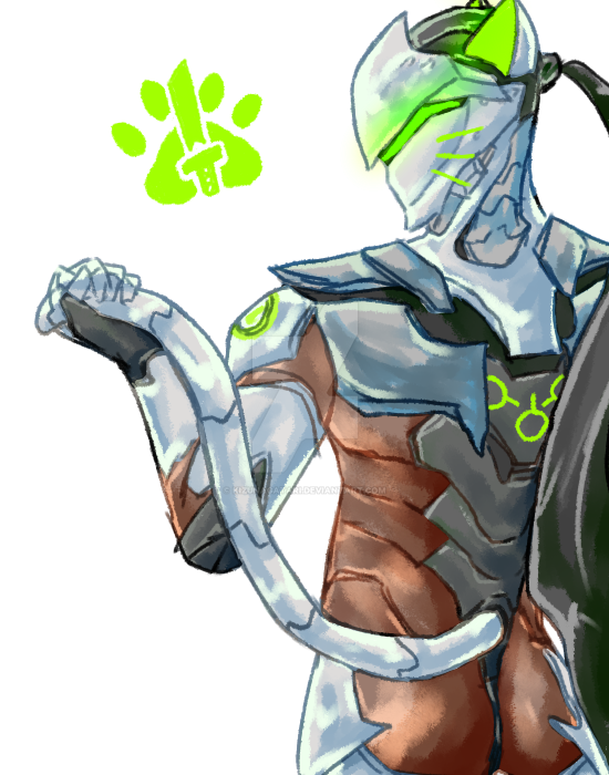 Overwatch: Let genji nyan by kizunagatari