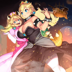 Peach and Bowsette Head swap
