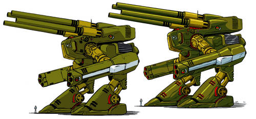 Old vs New Art - Destroid Monster MkII by Marchly