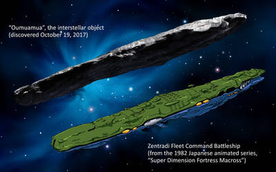 Oumuamua Comparison With Macross Zentradi by Marchly