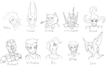 Heads by Oobaneko