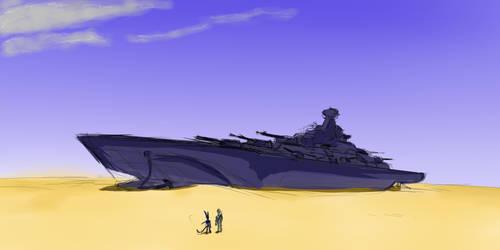Cruiser in sands by Oobaneko