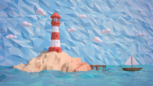 Low Poly Lighthouse by Kawana-n