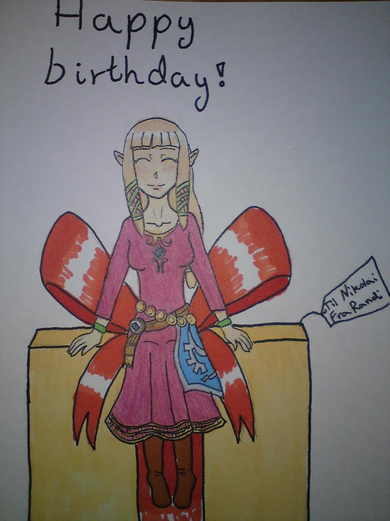zelda birthday card by mareliberum on deviantart, Birthday card