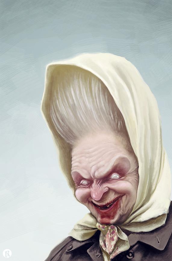 Zombie grandma by anti-vedel