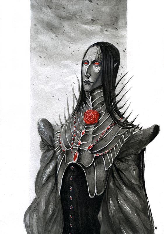Black warrior by XViolacea