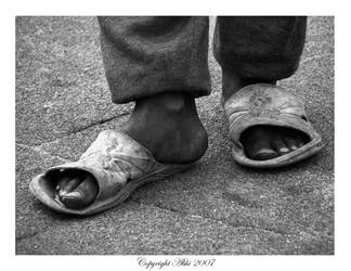 Weary Feet by red-vervet