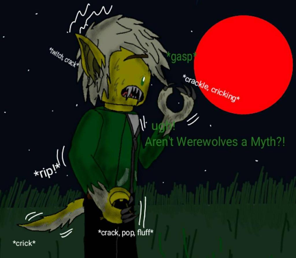 OSC: Lykanos Werewolf Transformation 1 of 2 by JakkalWolf