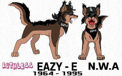 Eric 'Eazy-E' Wright As A Wolf by LoudandProudFanGirl