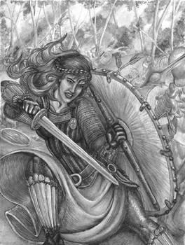 Shieldmaiden Battle