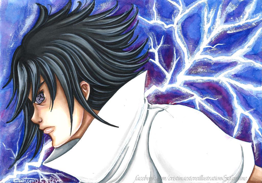 uchiha sasuke rinnegan mode fanart naruto by crisesher