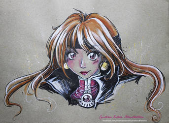 Lina Inverse Sketch - Fanart Slayers by CrisEsHer