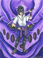Uchicha Sasuke Rinnegan Mode - Fanart Naruto by CrisEsHer
