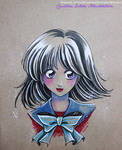 Sketch colour Hotaru Tomoe - Fanart Sailor Moon